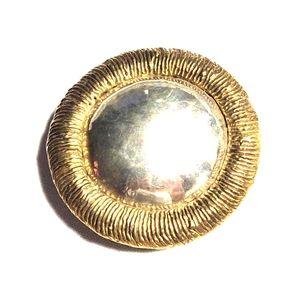Vintage brass and silver sunflower belt buckle 🌻